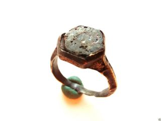 Medieval Ring With Glass Insert.  (282) photo