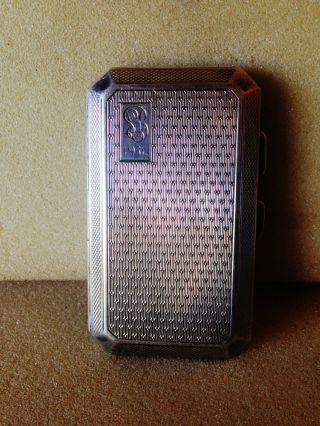 Solid Silver Small Cigarette Case 1927 photo