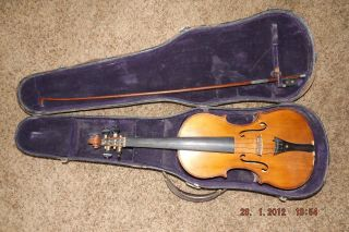Robert Glier Violin 1902 Very Restorable With Bow And Case 4/4 Size Wurlitzer photo