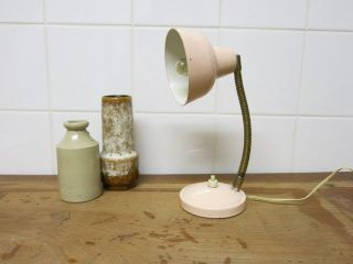 Vintage Retro Little Soft Pink 20th Century Modern Gooseneck Desk Lamp photo