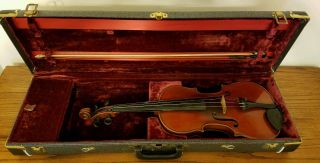 Late 1800 ' S Germany Antonius Stradivarius Cremonensis Violin 4/4 With Bow & Case photo