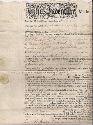 Antique Document - Cogran - Garrycastle - Co.  Westmeath - Ireland 1779 photo