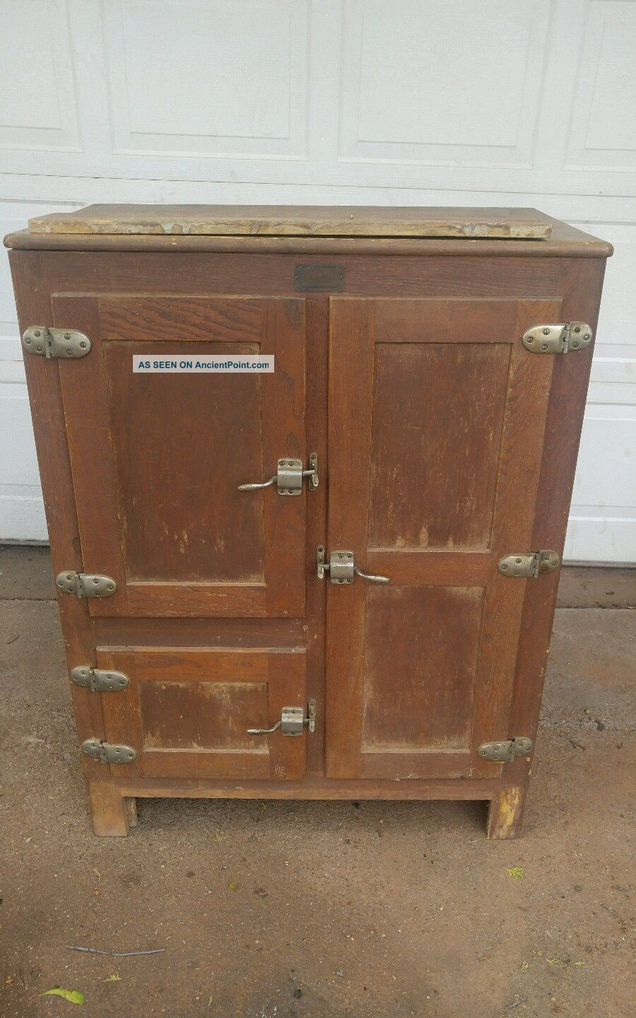 Rare Antique Oak 1893 Winchester Repeating Arms Home Ice Box L@@k Ice Boxes photo