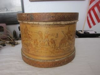 1930 ' S - 1960 ' S Child ' S Wood Drum.  Custer ' S Last Stand. photo