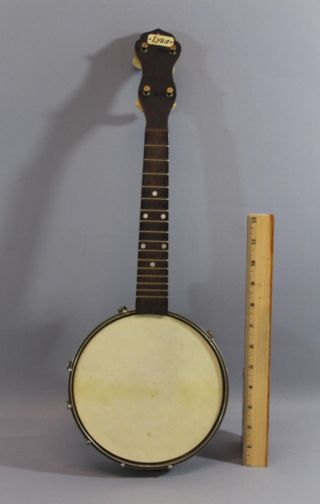Antique Circa - 1920s Lyra Ukulele Banjo W/ Birdseye Maple Body & Back,  Br photo