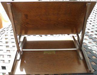 Vintage 1920 ' S Farrington Wood Lap Table Adjustable Reading Desk Easel Primitive photo