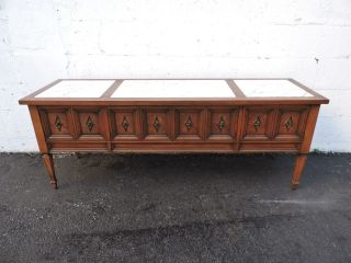 Mid - Century Marble - Top Console Table Cabinet Tv Stand 7164 photo