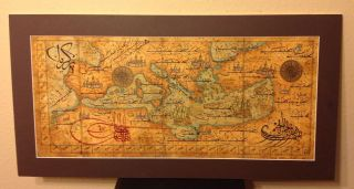 Antique Map - Old Middle Eastern Map / Manuscript photo