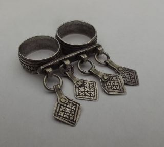 Old Silver Moroccan Double Ring Size 8/75 - 10 photo