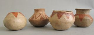 Three (3) Ancient Pre - Columbian Mesoamerican Pottery Vases 1000,  Years Old G - 8 photo