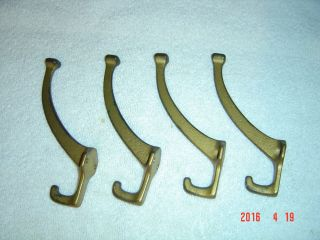 4 And Matching Craftsman Mission Hall Tree Coat Rack Hooks Cast 5