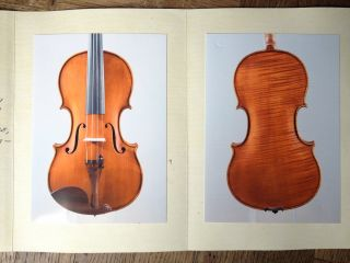 Violin Mario Gadda,  Mantova 1985 With Expertise Italian Old Violino Antico photo