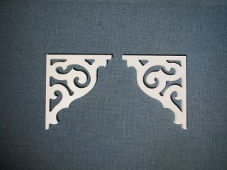 Victorian Corbel Brackets Reproduction Pvc Brk 1417 - 3/4 photo
