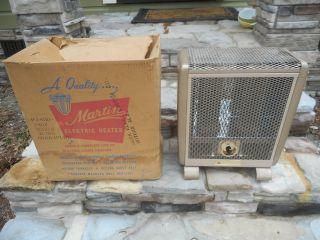 Rare Vintage Retro Nos  Martin P2430 - 2 Electric Heater 240 Volt photo