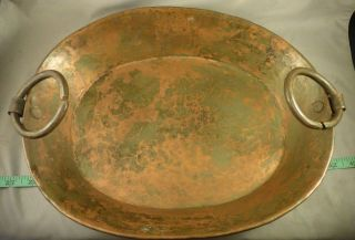 Hudson ' S Bay Company Copper Pan Marked Hb Hand Made Fur Trade Era 1840 photo