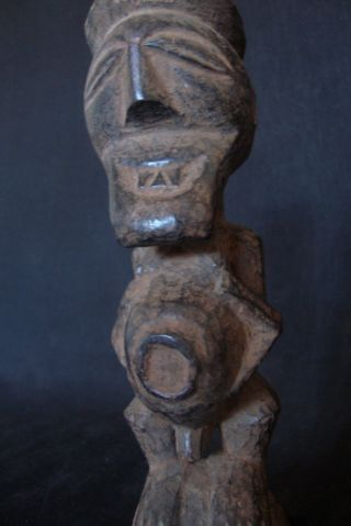 Expressive Songye Colon Nkisi Minkisi W/provenance - Old Dr Congo Power Figure. photo