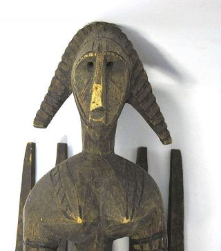 Massive Antique African Tribe Bambara Tribal Art Handmade Ceremonial Mask Nr Yqz photo