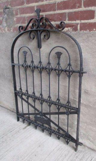 Antique Ornate Black Wrought Iron Garden Gate - Cincinnati,  Ohio (3) photo