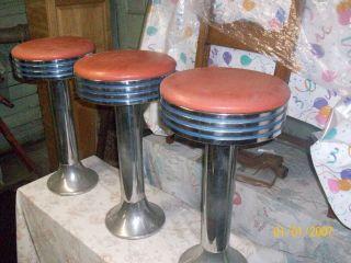 3 - 40 ' S 50 ' S Soda Fountain Stools photo