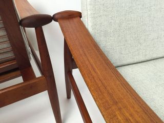Finn Juhl Spade Chairs In Teak Danish Mid Century Modern Lounge photo