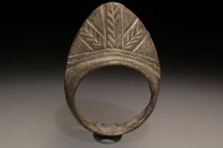 Roman Bronze Archer ' S Ring photo