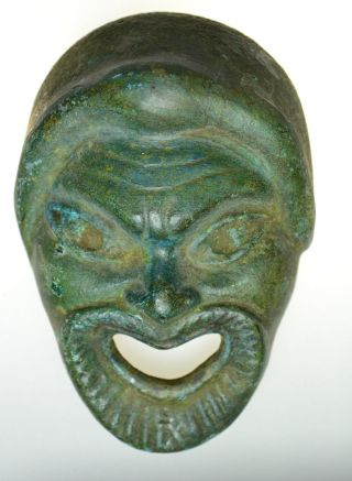 Roman Bronze Mask photo