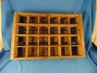 Antique Pepsi Cola Wood Crate 24 Slots Wall Hanging Spice Rack Art Primitive photo