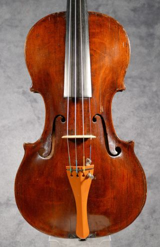 Around 250 Years Old Violin Of The Prague School. photo