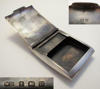 Novelty Art Deco Sterling Silver English Hm Matchbook Vesta Match Box Safe Case photo