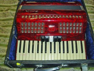 Italian Baile Piano Keys Accordion Accordian 80 Bass W/ Case Full Adult Size photo