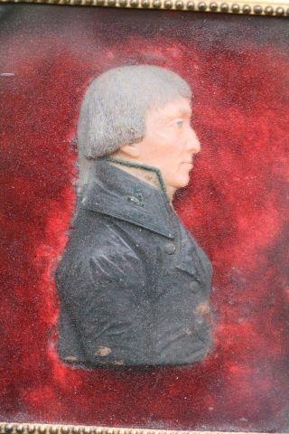 Orig 19thc Wax Portrait: Napoleon Boneparte In Wooden Glazed Frame C1890s photo