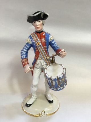 Nymphenburg Porcelain Military Soldier Owned By Wilkes Bashford photo