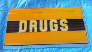 Vintage Reverse Painted Drug Store Sign (2 Piece) 31