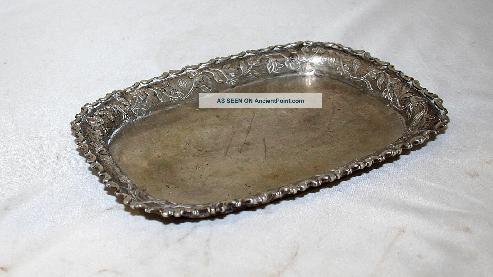 German Antique Sterling Silver 12 Tray Germany 18th Century Germany photo
