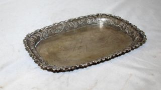 German Antique Sterling Silver 12 Tray Germany 18th Century photo
