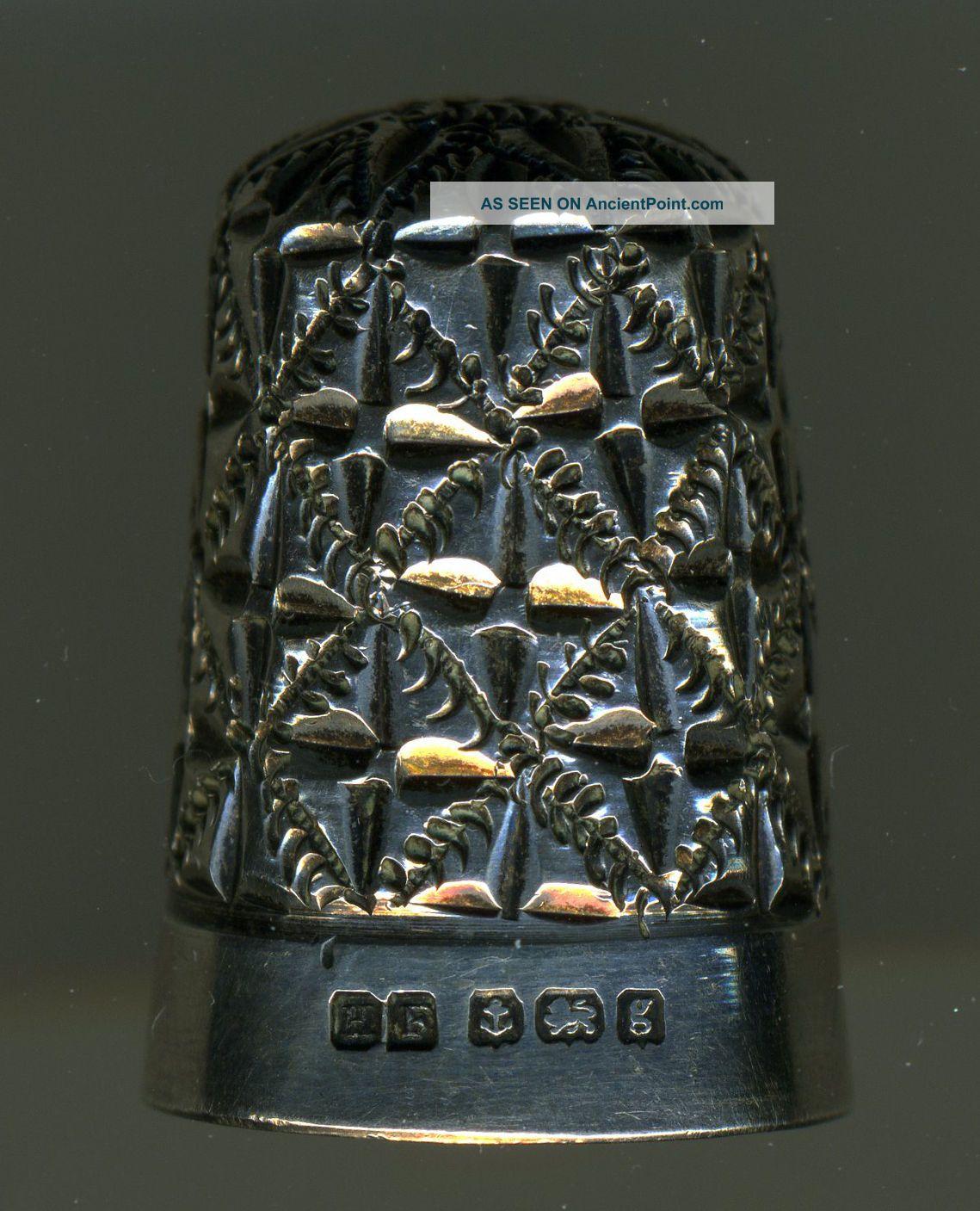 3 Antique Thimbles: Unusual Designs/details Thimbles photo