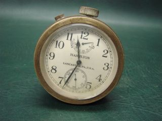 Hamilton Watch Co.  Wwii 1943 Navy Model 22 Chronometer Watch W/ Wind Indicator photo