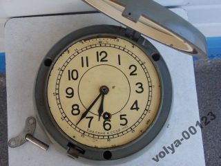 Vintage Russian Boat/ship Submarine Navy Cabin Clock Vostok 7 Days photo