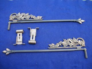 Old - Vintage - Antique - - Old - Cast Swing A Way - Extending Drapery/curtain Rods photo
