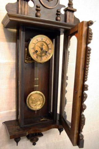 German Mauthe Fms D.  R.  P.  Wall Clock Vienna photo