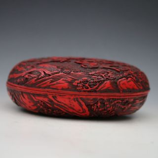 Oriental Vintage Delicate Lacquer Hand - Carved Hunting Box Csyb214 photo