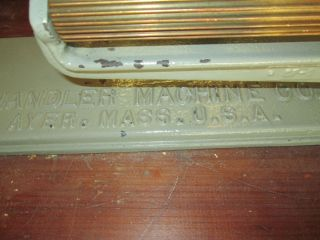 Antique Cast Iron Fluting Crimper Chandler Machine Co.  - Ayer Mass.  U.  S.  A photo