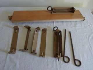 Vintage Heywood Wakefield Metal Bed Brackets photo