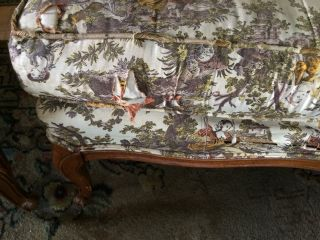 Hickory Chair Co Nc French Toile Chairs (pair) Need Reupholstered photo