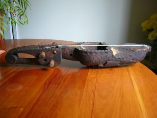 An Old Ethnographic Hand Carved Wooden Musical Instrument - Old Thai Grajabpi ? photo