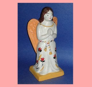 Vintage Chalkware Angel Sculpture Period Piece Reproduction Liberty Workshop photo