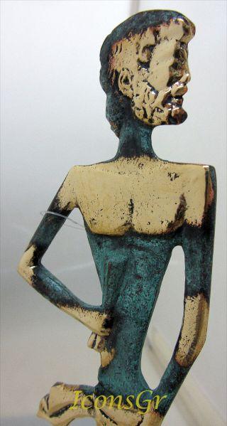 Ancient Greek Bronze Museum Statue Replica Of Asclepius God Of Medicine (209) photo