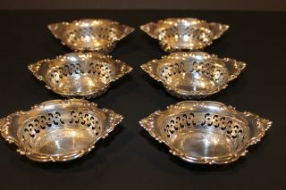 Authentic Gorham Cromwell 6pc.  Sterling Silver Pierced Nut Dish/candy Bowl A4780 photo