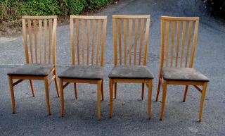 Workman - Danish Style High Back Dining Chairs Made In Italy photo