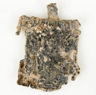 Very Rare Ancient Greek Lead Votive Bucrania,  Bucrane Ca.  4th Century Bc. photo